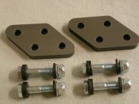 DR 650 foot peg lowering kit with international shipping included